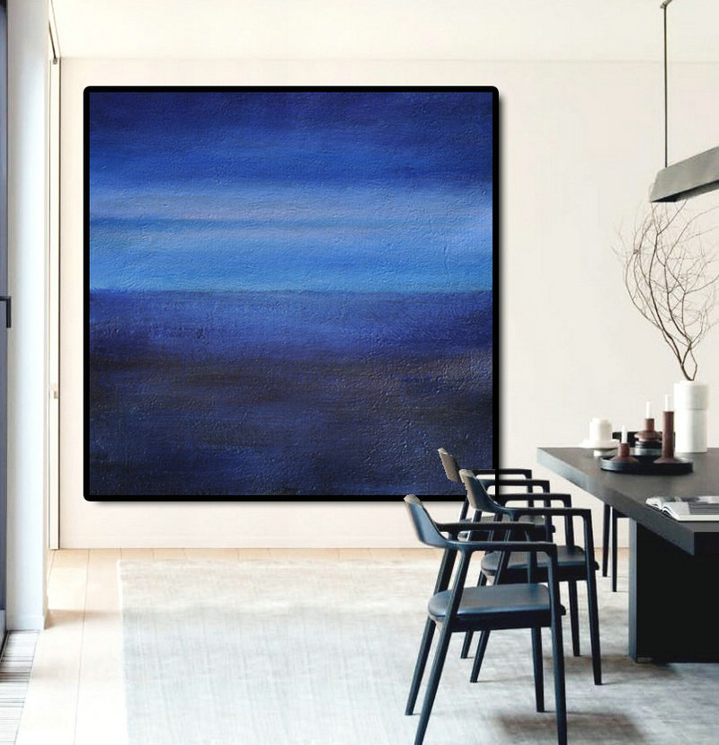 Large Abstract Painting Canvas Art, Landscape Painting On Canvas, Acrylic Painting Wall Art By Dao. Black Purple Blue
