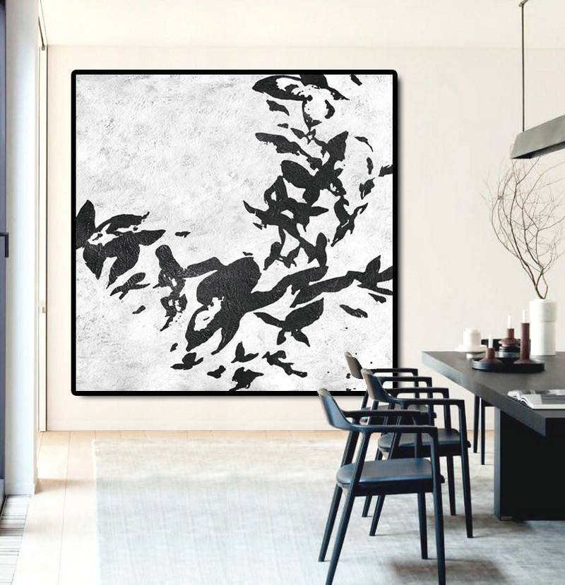 Large Abstract Painting Canvas Art, Acrylic Painting On Canvas Wall Art, Flowers, Hand Made Original Art.