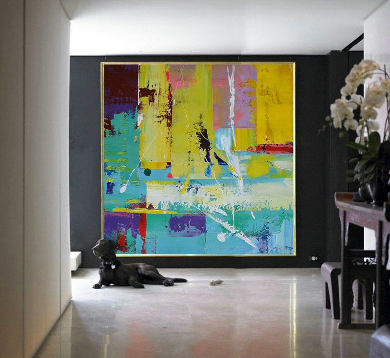 Handmade Large Contemporary Art Canvas Painting, Original Art Acrylic Painting, Abstract Canvas Art - By Leo