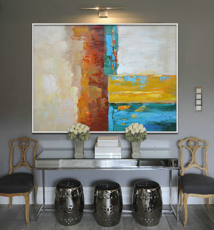 Large Painting, Original Art, Large Canvas Art. Contemporary Art, Modern Art Abstract Paintin. - By Biao