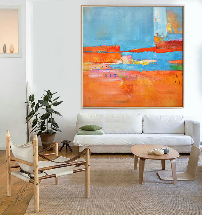 Hand Made Abstract Art, Acrylic Painting Large Canvas Art, Living Room Wall Art.t - By Biao