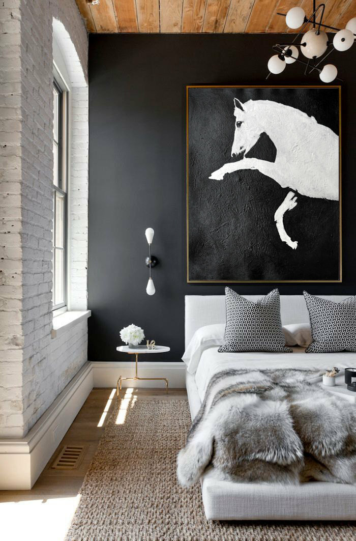 Black And White Horse Painting Minimalist Art Large Canvas Art Abstract Painting Modern Art Hand Painted Acrylic Painting Pt444 199 00 Handmade Large Abstract Painting On Canvas