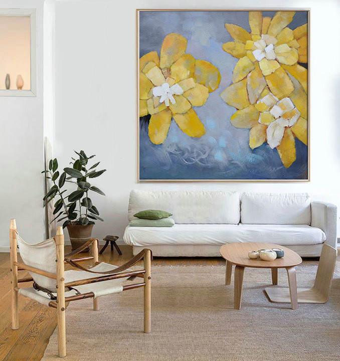 Hand Made Abstract Art, Acrylic Painting Large Canvas Art, Living Room Wall  Art.