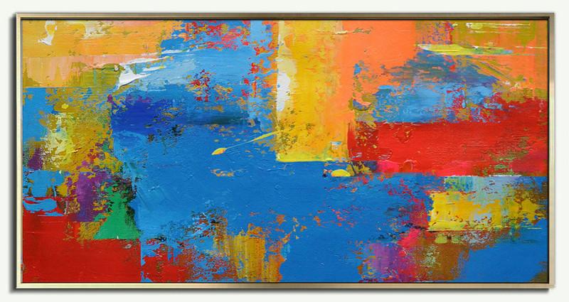 Original Horizontal Wall Art Abstract Canvas Painting