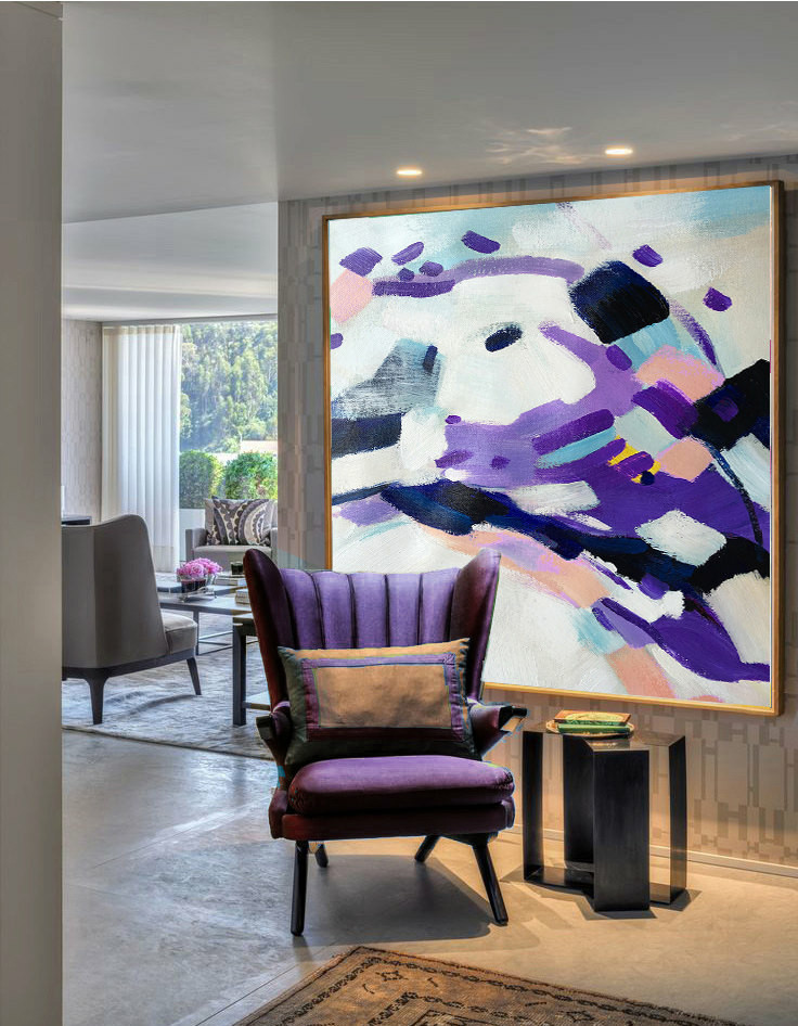Large Acrylic Painting On Canvas, Abstract Painting Canvas Art ...