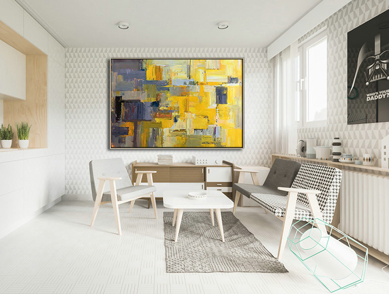 Large Palette Knife Painting on Canvas, Hand-painted Contemporary Art, Original Painting by Leo