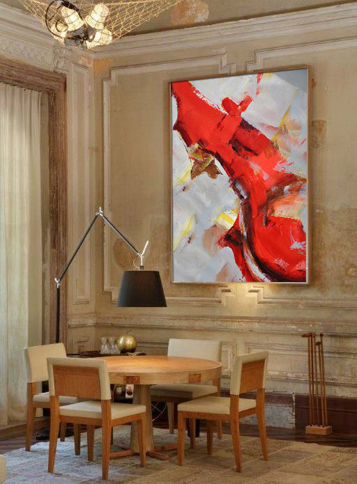 Handmade Extra Large Contemporary Painting, Huge Abstract Canvas Art, Original Artwork by Leo. Hand paint.