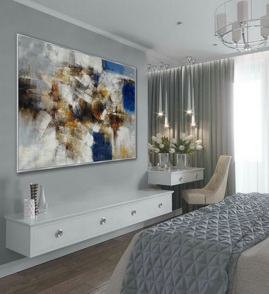 "Modern Texture Abstract Contemporary Wall Art Hand Painted Oil Painting on Canvas Extra Large XXL 60"" x 80"" / 150x200cm"