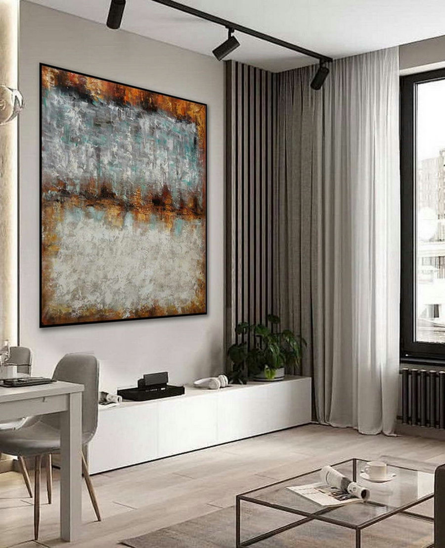 Texture Minimalist Contemporary Art Work Hand Made Acrylic Canvas Painting Large Minimal Artwork Modern Neutral Abstract Wall Art