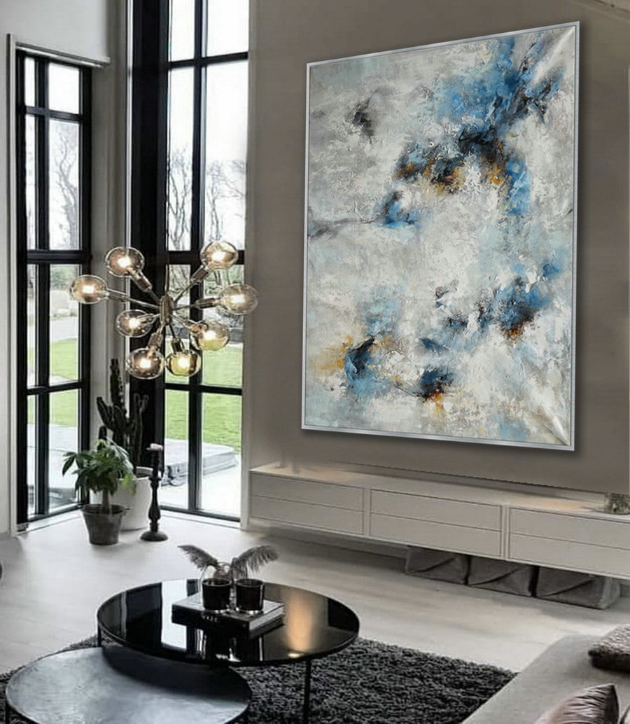 "Heavy Texture Abstract Wall Art Hand Painted Modern Contemporary Acrylic Painting on Canvas Extra Large XL 60x80"" / 150x200cm"