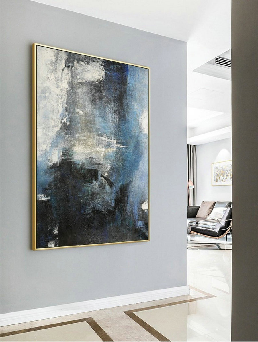 Large Abstract Sea,Original Abstract Art Painting,Large Wall Canvas Painting,Abstract Sky,Living Room Art,Modern Abstract,Handmade Artwork