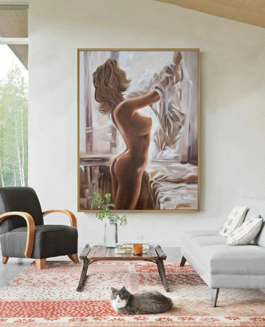 Nude Painting Decoration,Nudeart Women Painting Original,Nude Oil Painting,Sexy Woman,Nude Body Painting,Nude Woman,Nudes Oil Painting Art