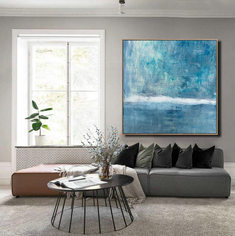 Large Wall Sky Abstract Art Painting,Large Sky And Sea Oil Painting,Sea Canvas Painting,Sky Landscape Painting,Sea Level Landscape Painting