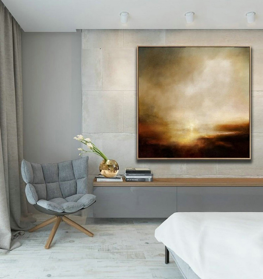 Sky Cloud Abstract Painting,Original Sky Art Painting,Large Canvas Art Painting,Large Wall Art Acrylic Painting,Landscape Painting Artwor