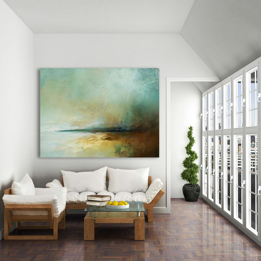Sky Abstract Painting on Canvas,Large Abstract Art Oil Painting,Large Abstract Painting,Large Wall Canvas Painting,Original Abstract Art - Click Image to Close