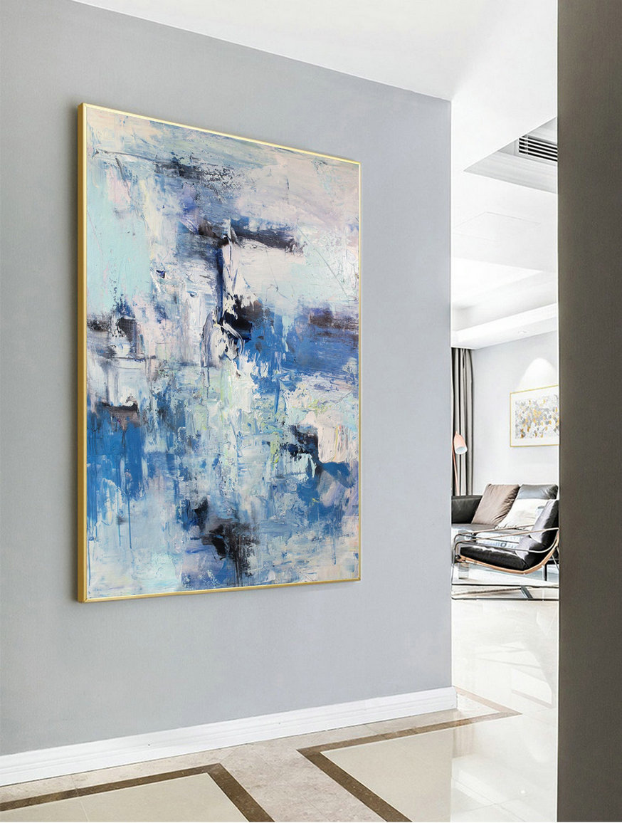 Acrylic Painting,Large Abstract Art,Original Blue Sky Abstract Painting,Cloud Abstract Painting,Large Canvas Art,Acrylic Paintings On Canvas