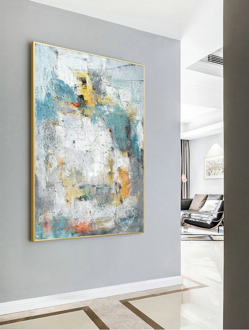 Large Acrylic Painting,Abstract Painting Cloud Painting Texture Art Abstract Original Painting On Canvas Wall Painting For Living Room