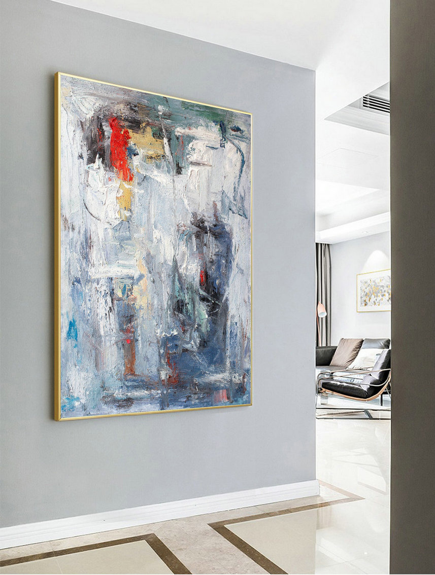 Acrylic Painting,Super Large Texture Abstract Painting,Gray White Abstract Art,Large Abstract Painting,Acrylic Abstract Paintings On Canvas