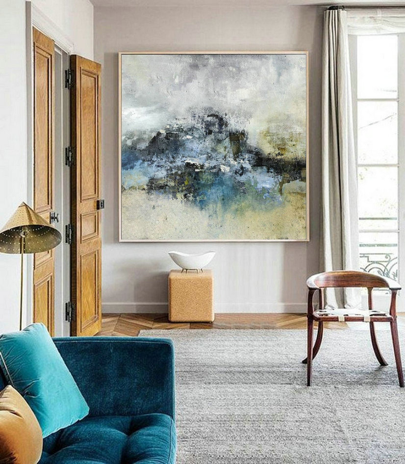 Large Sky Canvas Oil Painting, Landscape Abstract Painting,Original Abstract Painting, Abstract Sky Painting,Modern Abstract,Living Room Art
