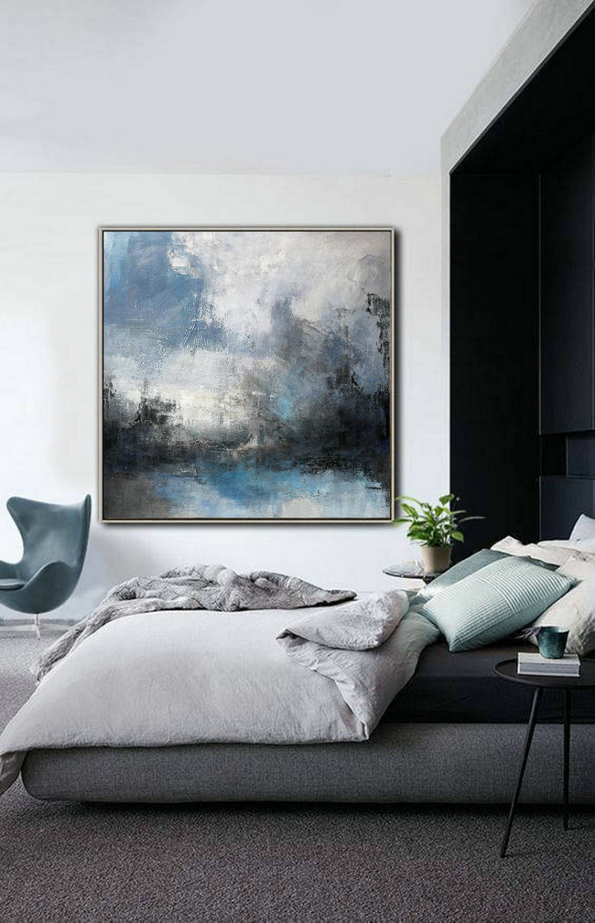 Large Abstract Sea,Original Abstract Art Painting,Large Cloud Canvas Oil Painting,Abstract Sky,Abstract Art,Modern Abstract,Living Room Art