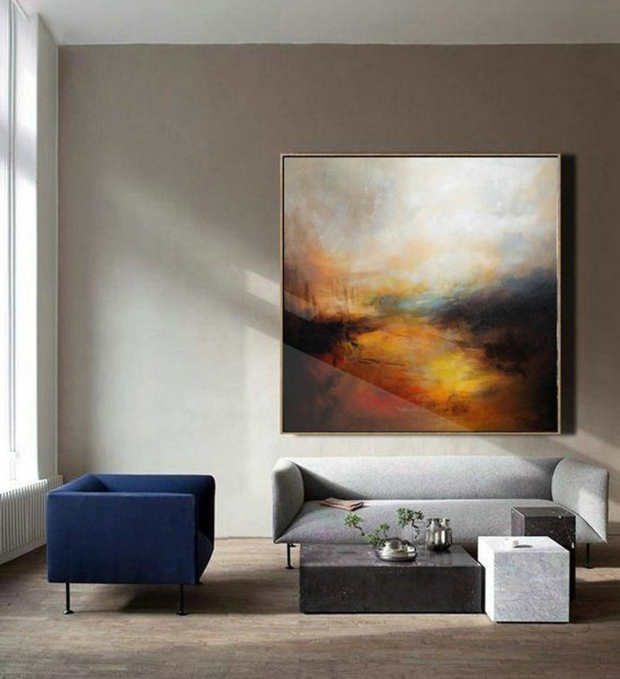 Large Cloud Abstract Painting,Sky Abstract Oil Painting,Skyline Oil Painting Artwork,Original Sky Art Oil Painting,Large Canvas Oil Painting