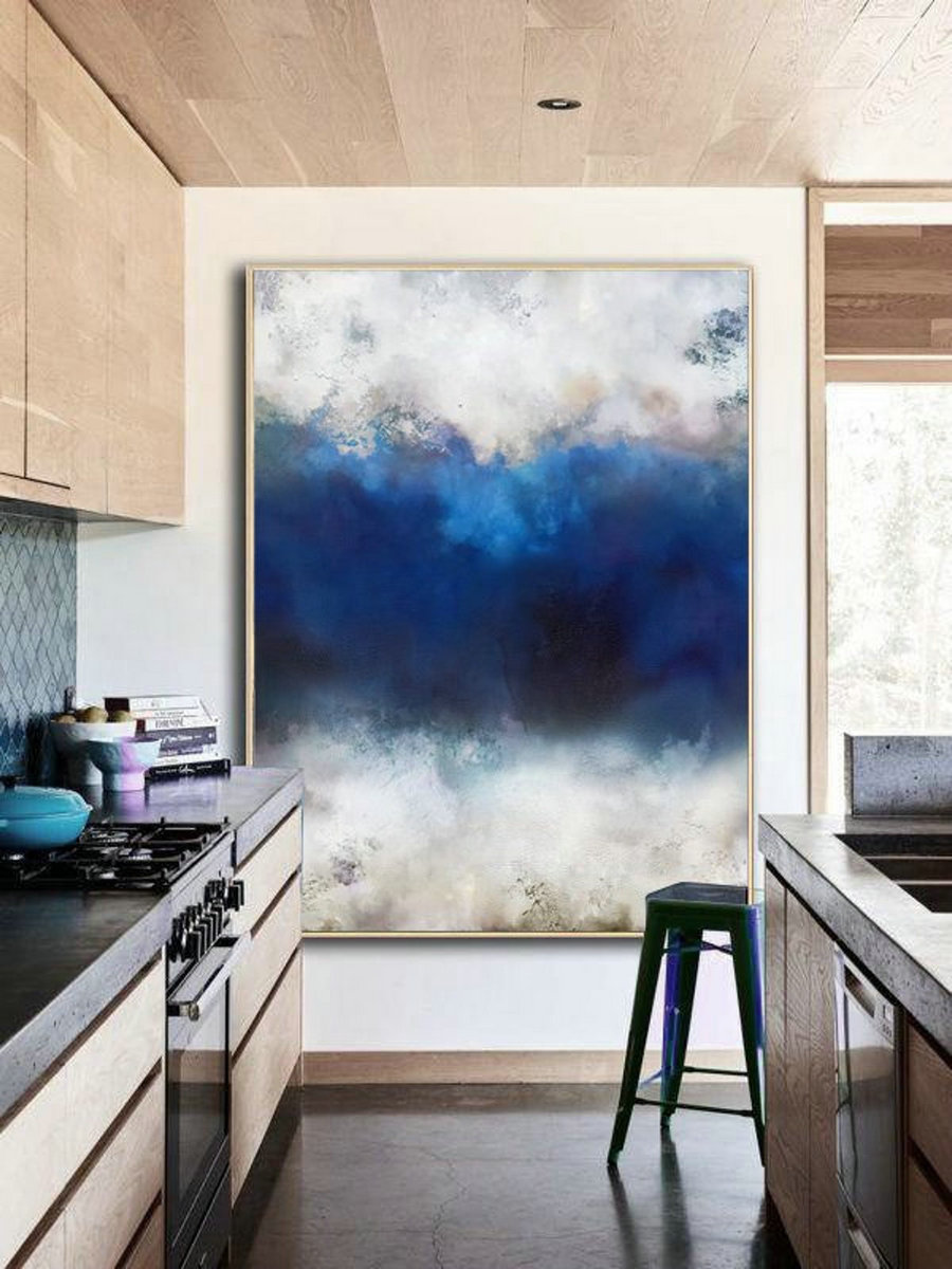 Original Cloud Abstract Painting,Large Cloud Abstract Landscape Painting,Large Wall Canvas Painting,Abstract Sky Painting,Large Abstract Art
