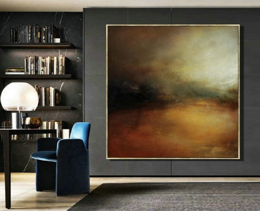 Large Wall Art Oil Painting,Sky Abstract Oil Painting,Skyline Oil Painting Artwork,Original Sky Art Oil Painting,Large Canvas Oil Painting