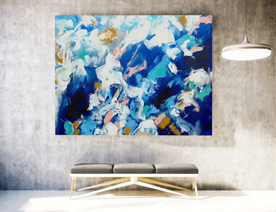 Large Original Painting, Large Wall Art Canvas,Original Large Abstract Painting,Extra Large Abstract Art,Large Abstract Painting XXL LAS006