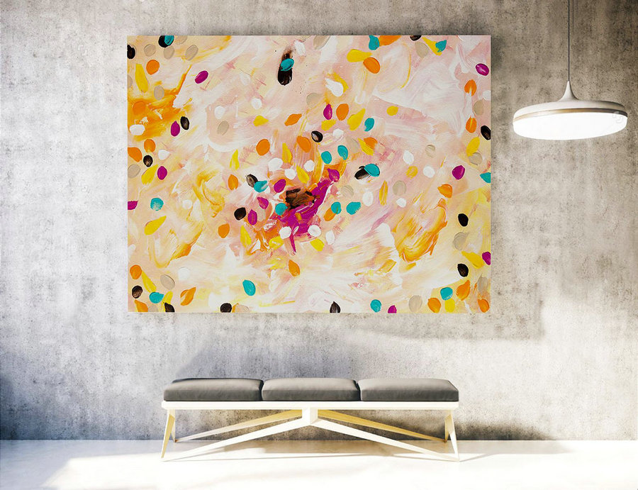 Contemporary Wall Art On Canvas,Extra Large Wall Art ,Large Abstract Painting Canvas,Large Art Original Abstract Painting ,XXXl XXL LAS020