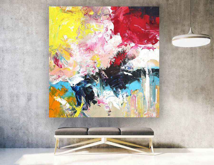 Contemporary Art Original Painting on Canvas, Large Wall Art, Abstract Modern Decor, Extra Large Canvas Painting for Home Decoration laS405