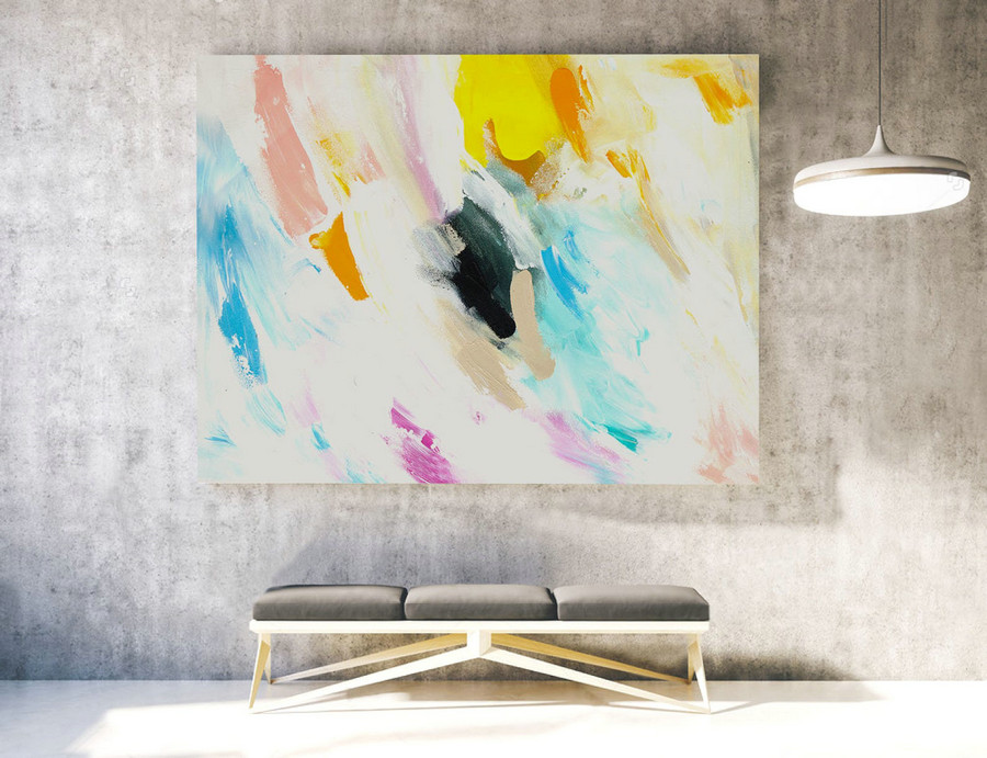 Extra Large Wall art - Abstract Painting on Canvas, Contemporary Art, Original Oversize Painting LAS046
