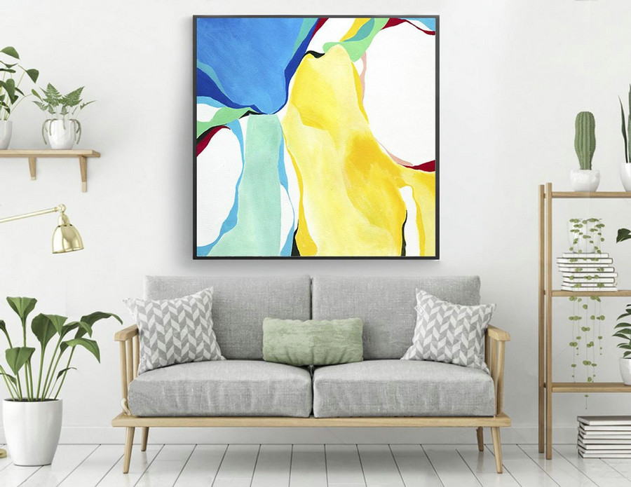 Extra Large Original Painting On Canvas, Abstract Painting Wall Art,Contemporary Wall Art, Modern Art Decor, Living room, Bathroom laS181