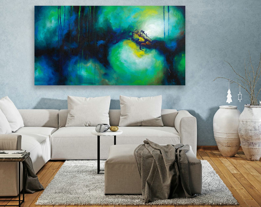 Abstract Painting on Canvas - Extra Large Wall Art, Contemporary Art, Original Oversize Painting LAS109