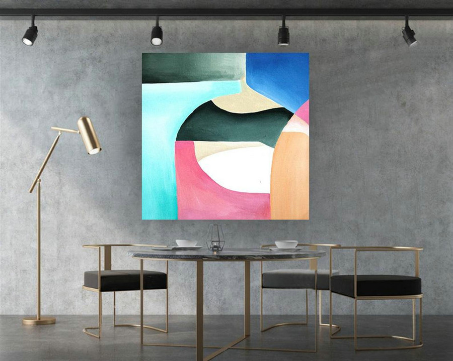 Extra Large Original Painting On Canvas, Abstract Painting Wall Art,Contemporary Wall Art, Modern Art Decor, Living room, Bathroom laS351