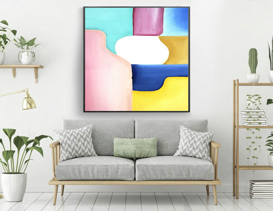 Extra Large Painting on Canvas,Original Large Abstract Painting,Contemporary Art Modern Oil Painting Large Painting laS353