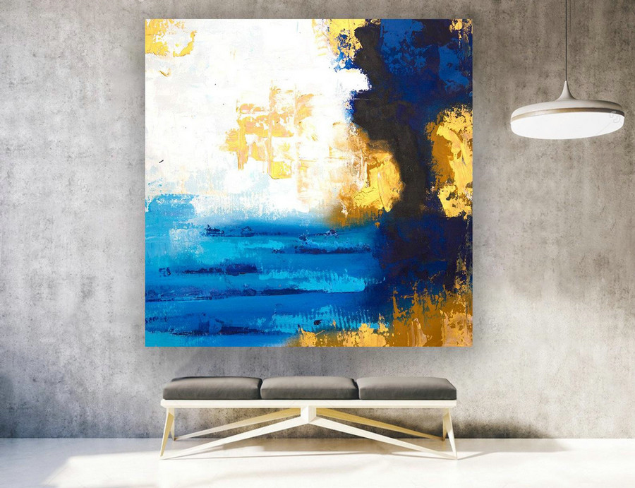 Extra Large Wall Art Beach,Extra Large Wall Art,Abstract Landscape Painting,Artwork Wall Decor,Original Painting Landscape,Fine Art laS574