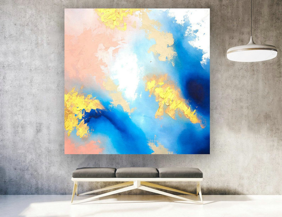 Extra Large Wall art - Abstract Painting on Canvas, Contemporary Art, Original Oversize Painting laS580