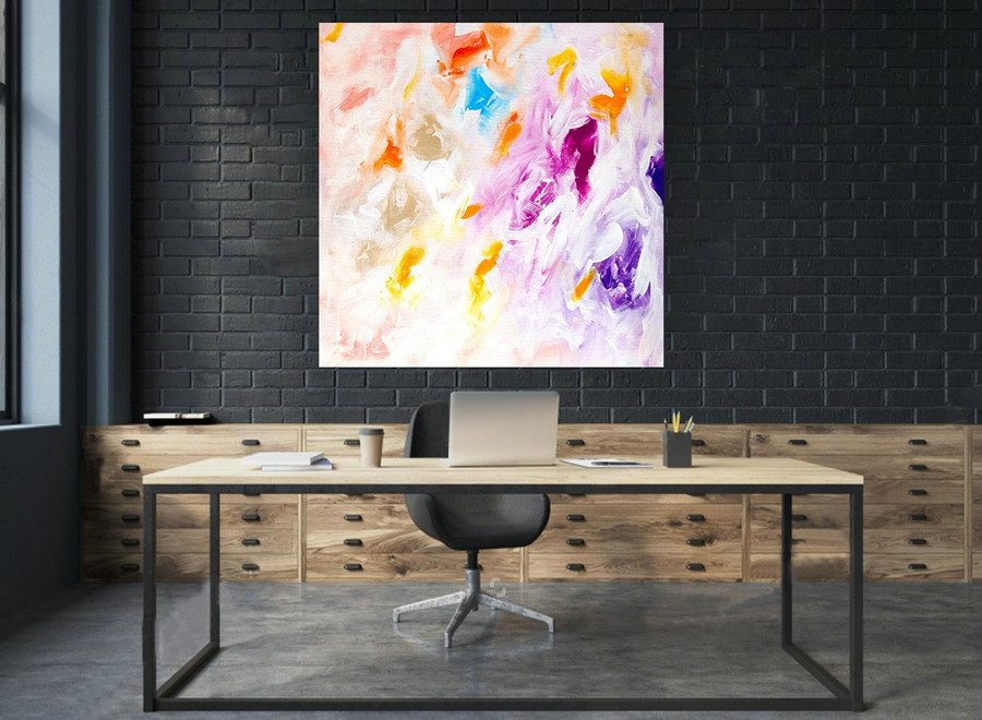 Extra Large Wall Art Original Abstract Painting on Canvas , Large Abstract Painting, Contemporary Wall Art, Large Original Painting laS034