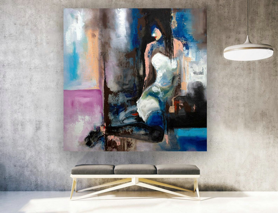 Abstract Painting,Large Wall Art,Paintings On Canvas,Extra Large Wall Art,Abstract Canvas Art,Large Abstract Painting,Contemporary laS267