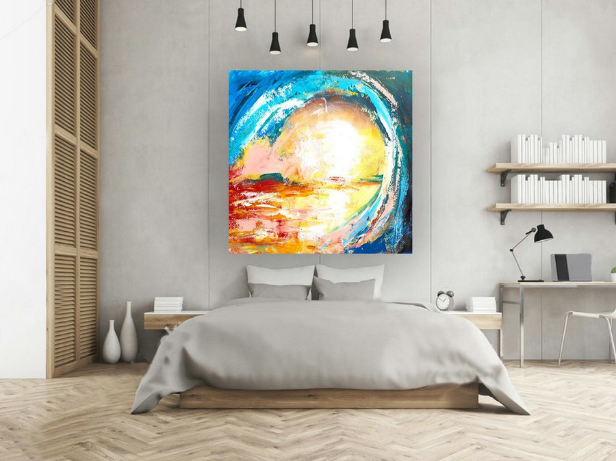 Extra Large Original Painting On Canvas, Abstract Painting ...