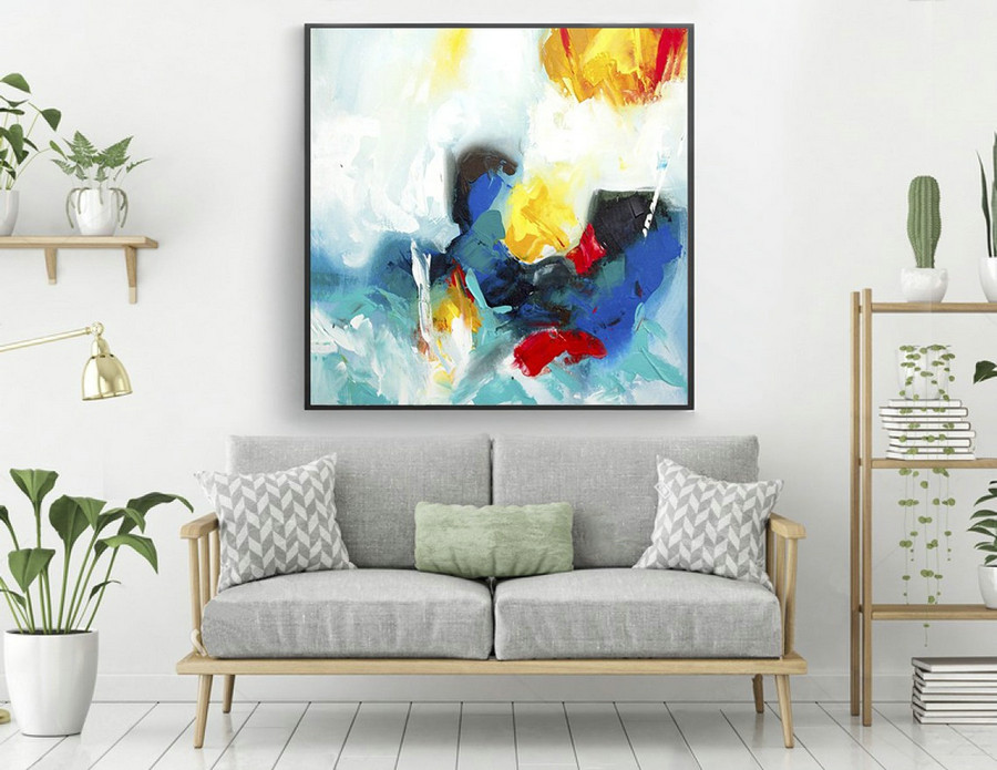 Extra Large Painting on Canvas,Original Large Abstract Painting,Contemporary Art Modern Oil Painting Large Painting las263