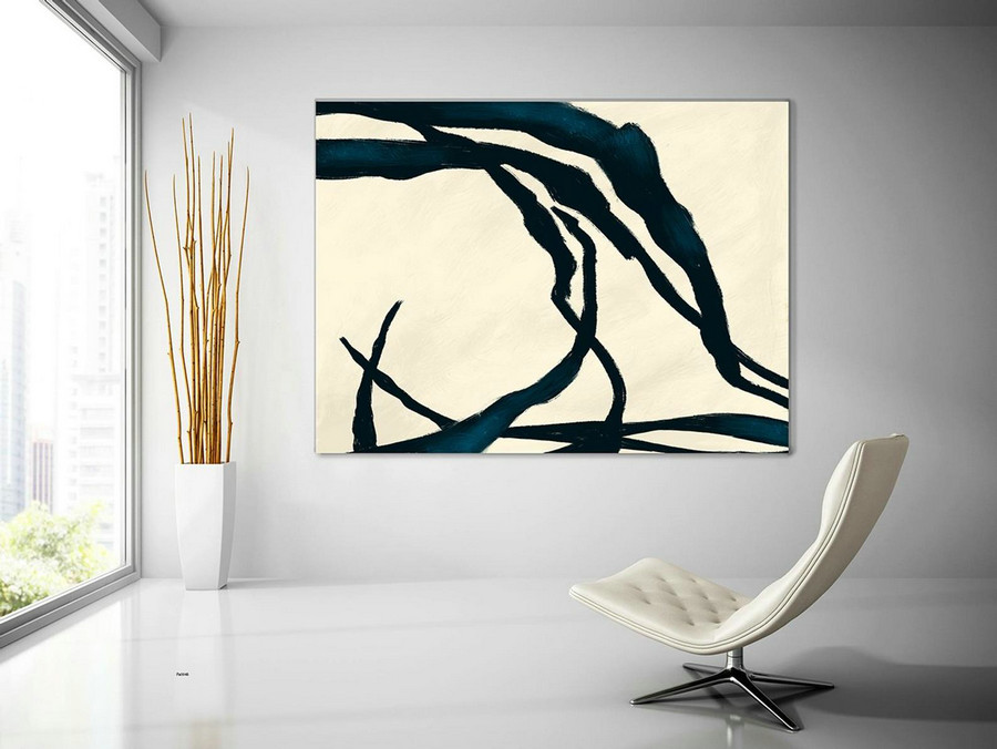 Extra Large Wall Art,Minimal Abstract Painting,Contemporary Painting on Canvas,Large Canvas Art,Huge Abstract Painting,Living Room PaS048
