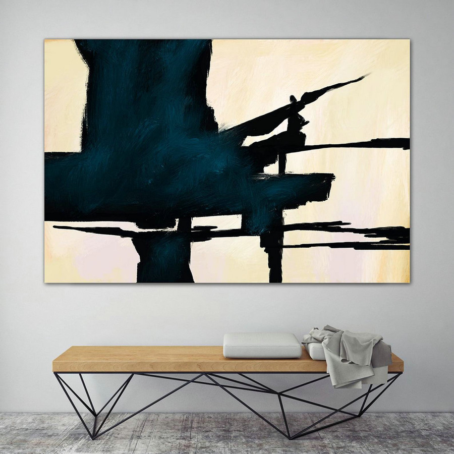 Extra Large Wall Art,Minimal Abstract Painting,Contemporary Painting on Canvas,Large Canvas Art,Huge Abstract Painting,Living Room PaS054