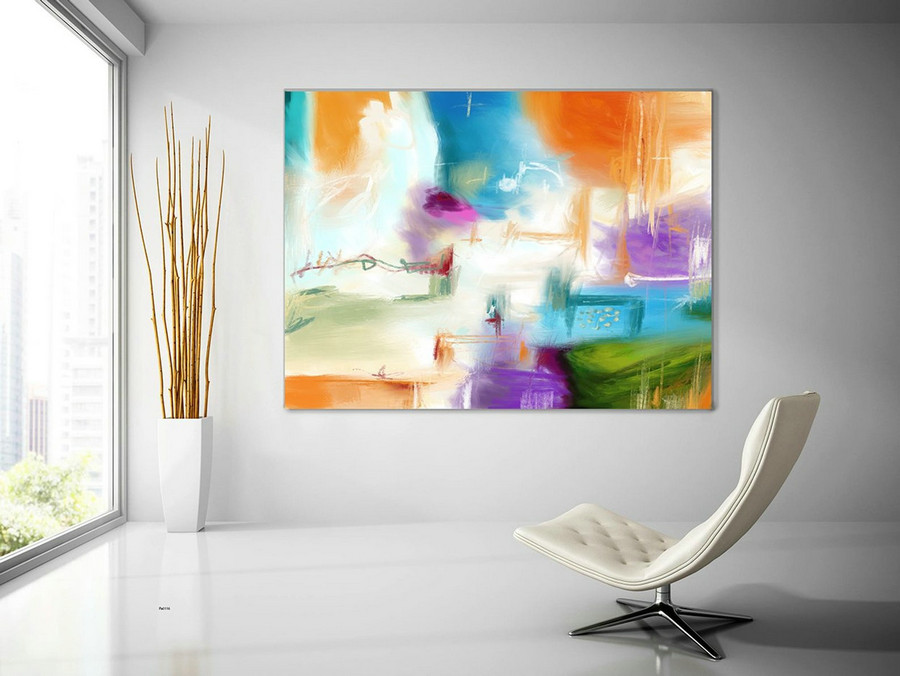 Extra Large Painting on Canvas, Original Abstract Art,Contemporary Abstract Paintings, Large Paintings on Canvas, UNSTRETCHED Pas116
