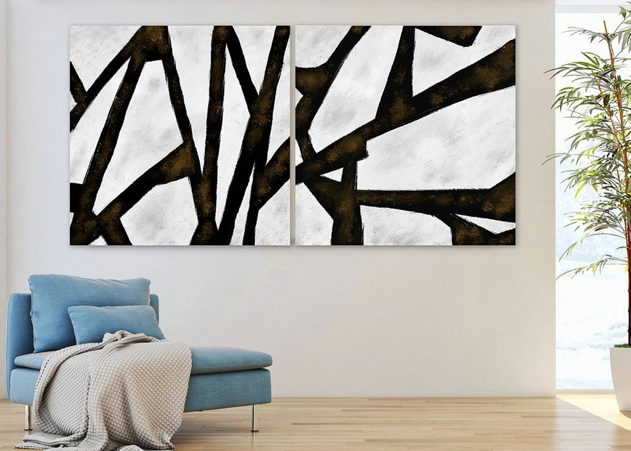 Extra Large Wall art - Abstract Painting on Canvas, Contemporary Art, Original Oversize Painting PaS015
