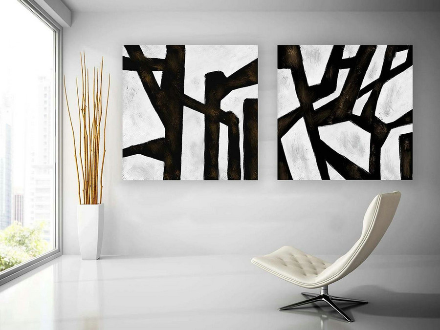 Abstract Canvas Art - Large Painting on Canvas, Contemporary Wall Art, Original Oversize Painting paS019