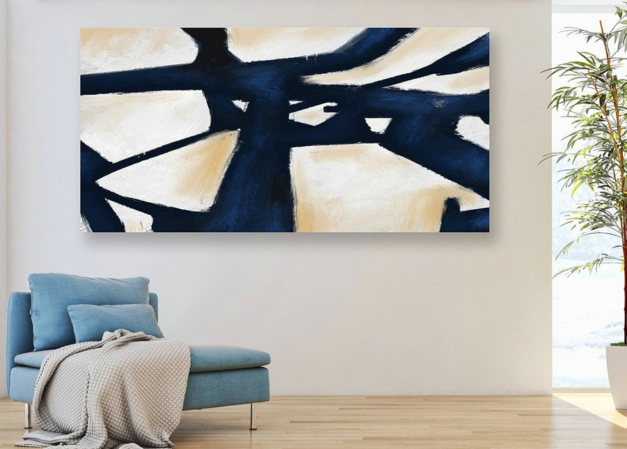 Extra Large Wall Art,Minimal Abstract Painting,Contemporary Painting on Canvas,Large Canvas Art,Huge Abstract Painting,Living Room PaS009