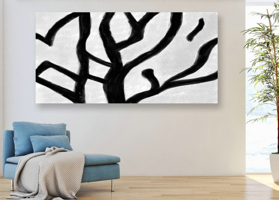 Minimal Painting on Canvas Textured Painting Extra Large Wall Art, Dining room decor Extra Large Original Abstract Painting on Canvas GaS026