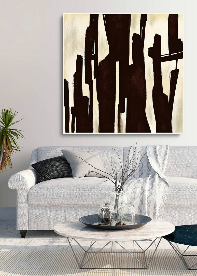Abstract Canvas Art - Large Painting on Canvas, Contemporary Wall Art, Original Oversize Painting PaS056