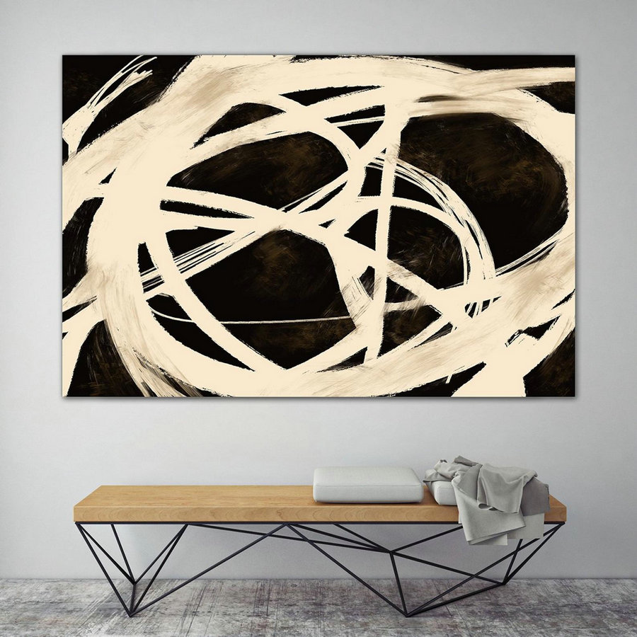 Extra Large Wall Art,Minimal Abstract Painting,Contemporary Painting on Canvas,Large Canvas Art,Huge Abstract Painting,Living Room PaS040